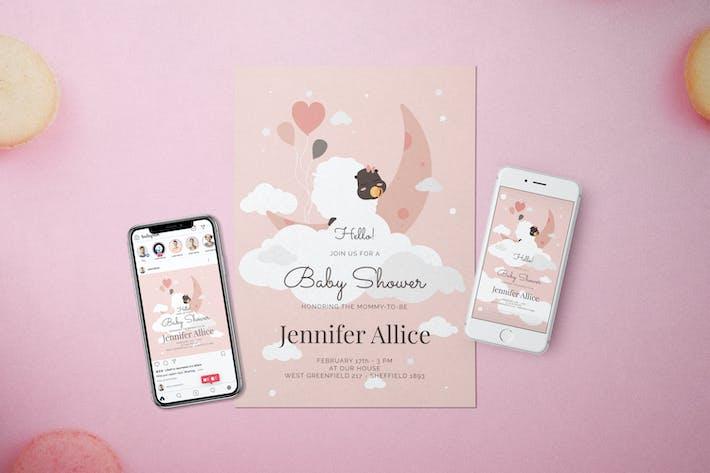 Baby Shower Invitation - Flyer Media Kit
