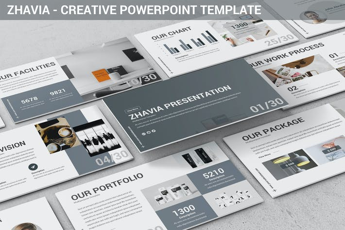 Thumbnail for Zhavia - Creative Powerpoint Template