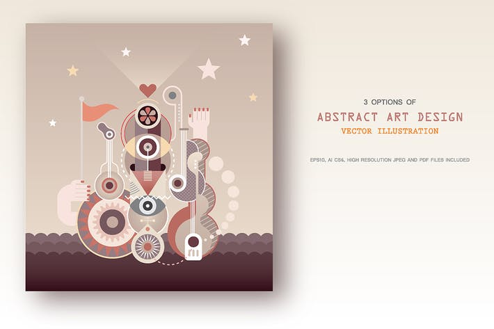 Thumbnail for Abstract Art Designs (3 options), vector artwork
