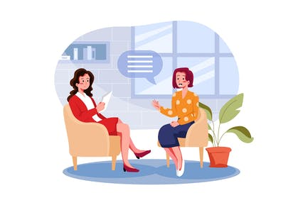 Business Woman Listen to Candidate Answers