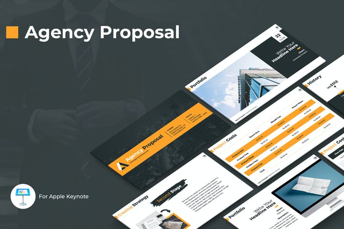 Cover Image For Agency Proposal Keynote Template