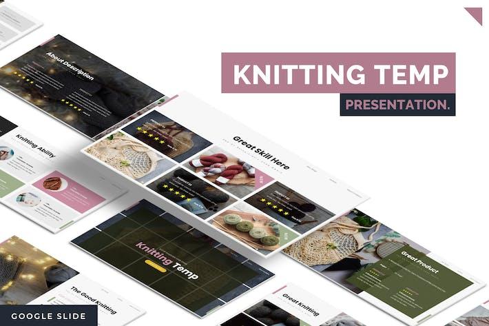 Cover Image For Knitting - Google Slides Template