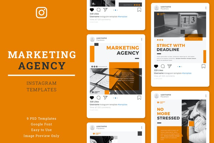 Cover Image For Marketing Agency Instagram Post template