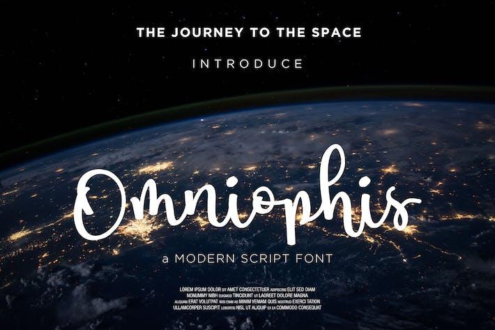 Thumbnail for Omniophis Script Font