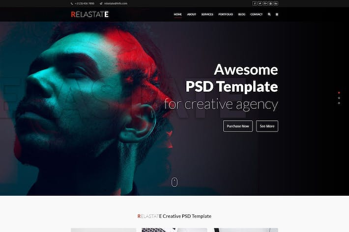 Thumbnail for Relastate - Creative Digital Agency PSD Template