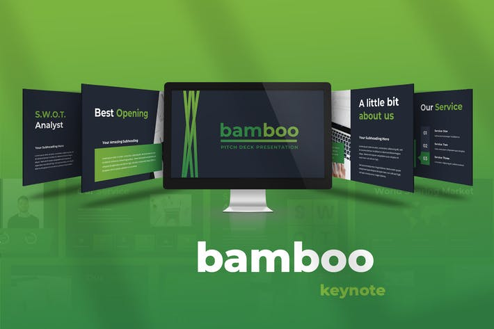 Thumbnail for Bamboo - Pitch Deck Keynote Presentation