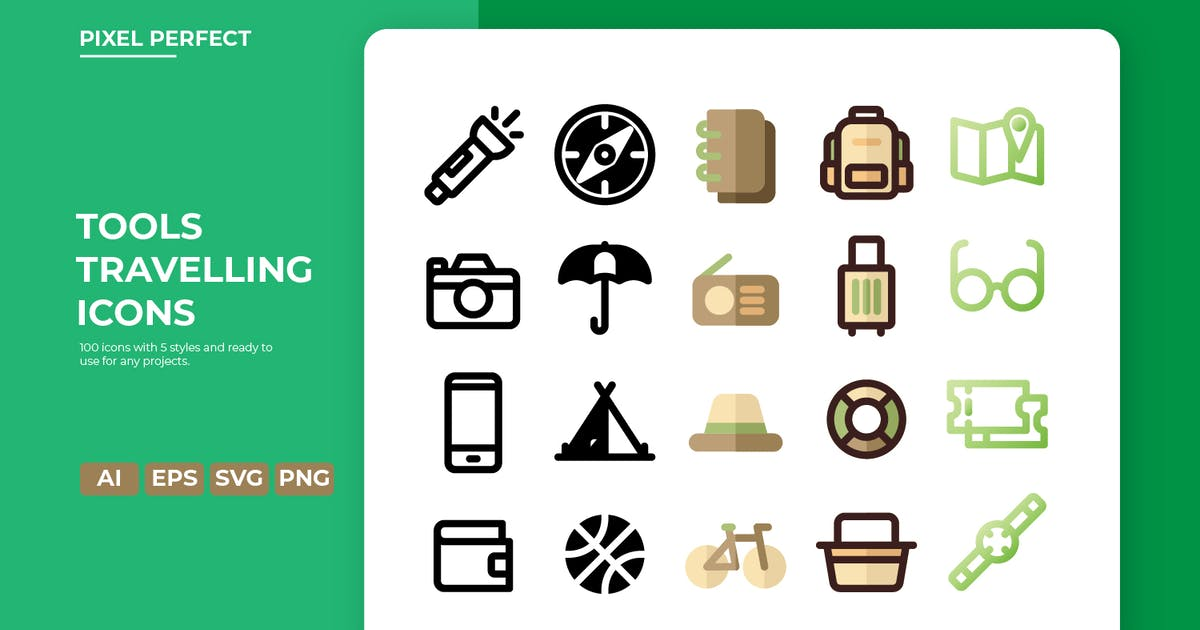 Download Travelling Tools Icon - 5 Styles by nathatype