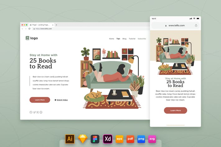 Thumbnail for Landing Page V.15 Reading Books