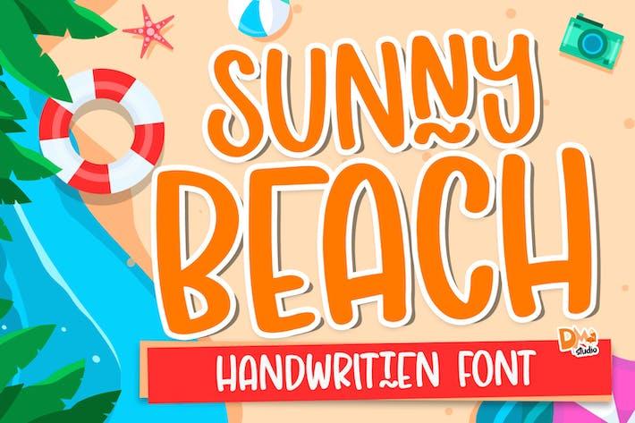 Thumbnail for Sunny Beach - Fuente escrita a mano Crafty