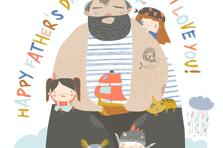 Thumbnail for Big father sailing with children and animals
