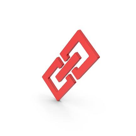 Symbol Link/Kette Rot