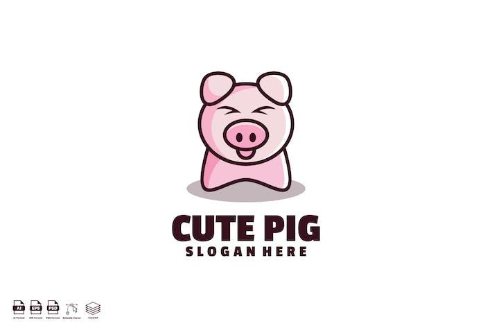 Thumbnail for Logo de cochon mignon