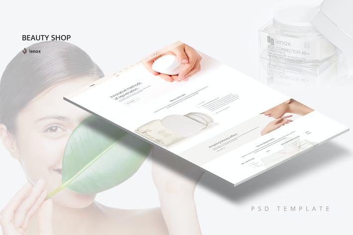 Thumbnail for Beauty Shop PSD Template