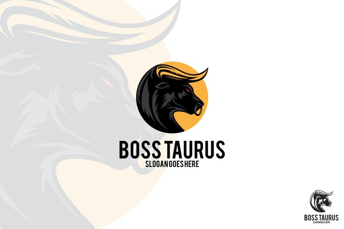 Thumbnail for Boss Taurus Bull Vector Logo Mascot