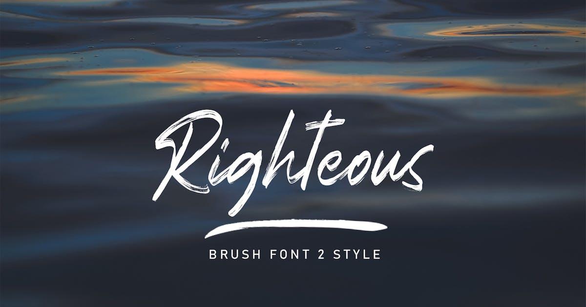 Download Righteous Handwritten Typeface Brush by arendxstudio