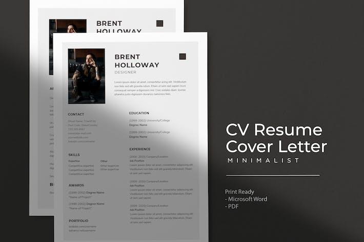 Thumbnail for Brent Holloway - CV Resume Template