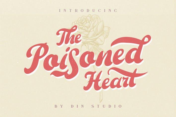 El Corazón Envenenado - Retro Vintage Font