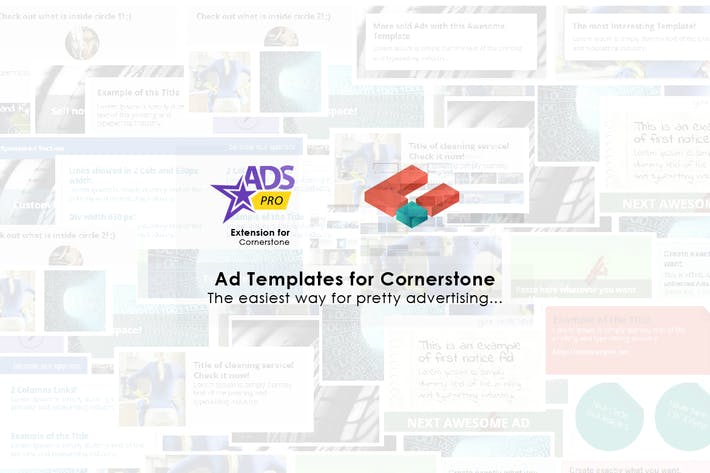 Thumbnail for Ads Pro - Cornerstone Extension - Ad Templates