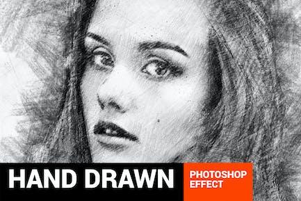 Pencilum - реальные руки нарисованные Photoshop действие