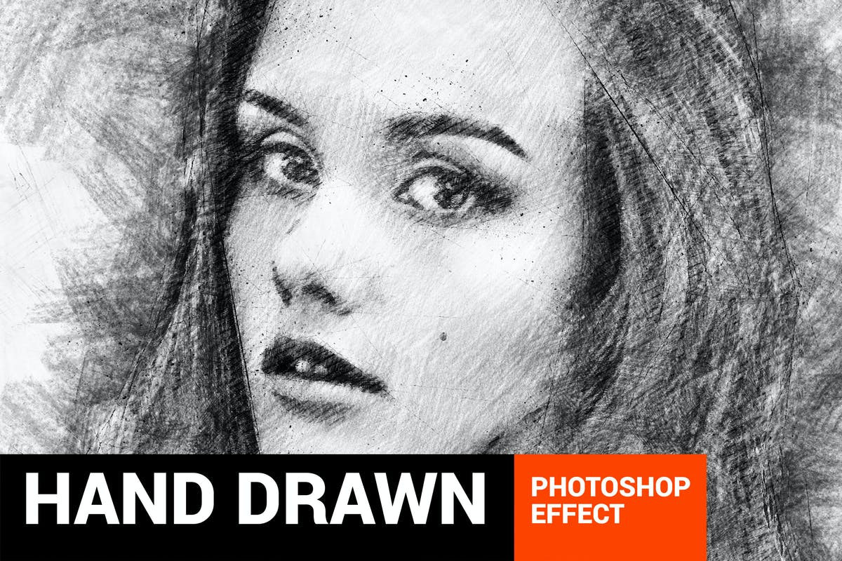 Pencilum real hand drawn photoshop action by profactions on envato elements
