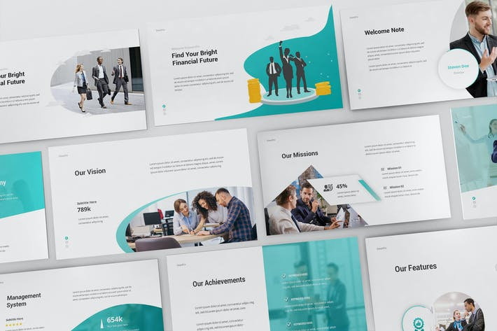 Thumbnail for SmartFin Financial Powerpoint Template