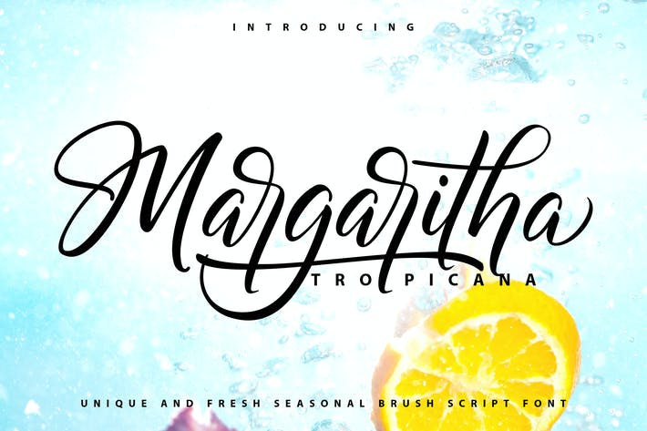 Thumbnail for Margaritha-Tropicana | Unique Brush Script Font