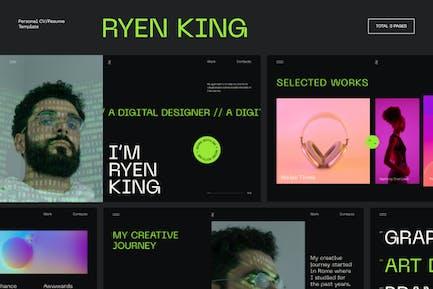 Ryen King - Persönlicher Lebenslauf/Lebenslauf HTML-Vorlage