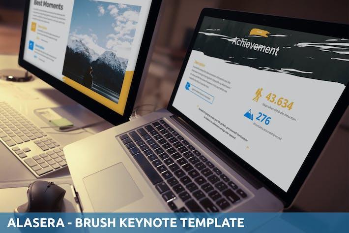 Thumbnail for Alasera - Brush Keynote Template