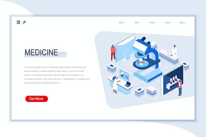 Thumbnail for Медицина Изометрический Баннер Плоская концепция