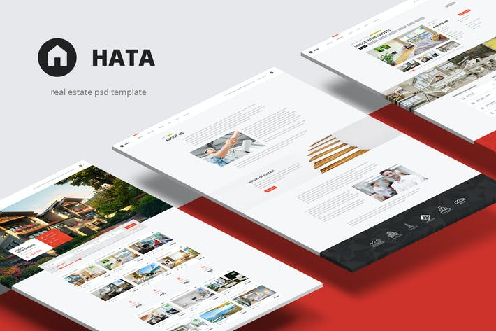 Thumbnail for Hata — Real Estate PSD Template