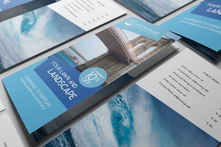 Thumbnail for US Letter | Tri-Fold Brochure Mock-up V2