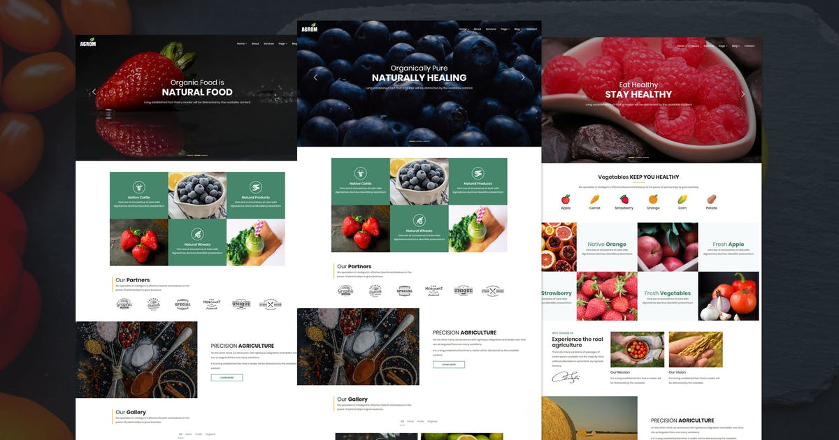 Download Agrom - Organic & Agriculture Food WordPress by shtheme