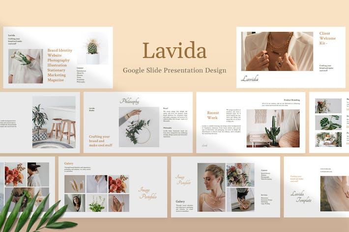 Thumbnail for Lavida - Клиент приветственный набор Шаблон Google слайд