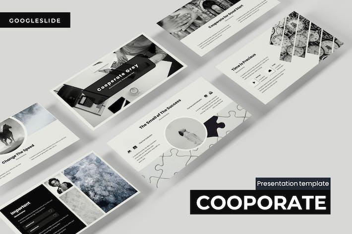 Thumbnail for Сотрудничество серый - Powerpoint Шаблон
