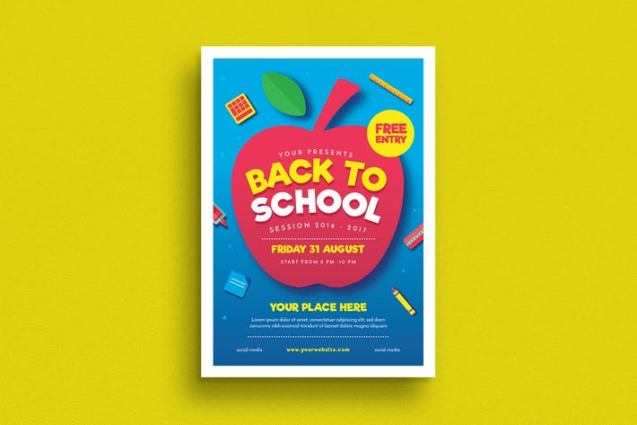 Thumbnail for Back to School Event Flyer