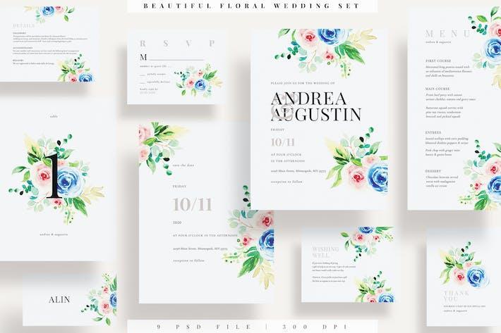 Thumbnail for Magnifique ensemble de mariage floral EZ
