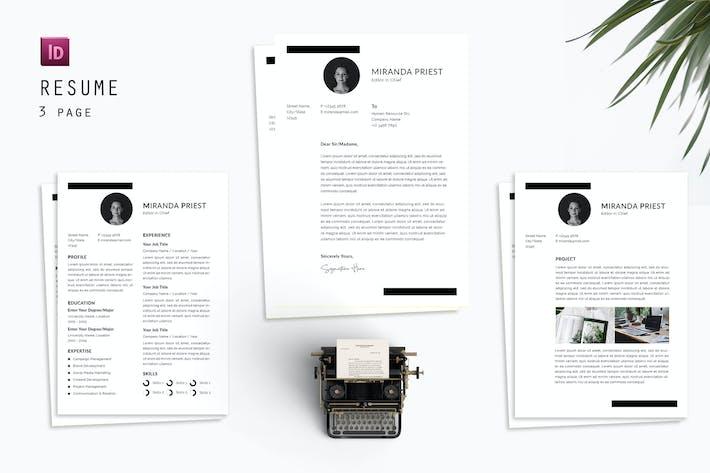 Editor Chief Resume Designer
