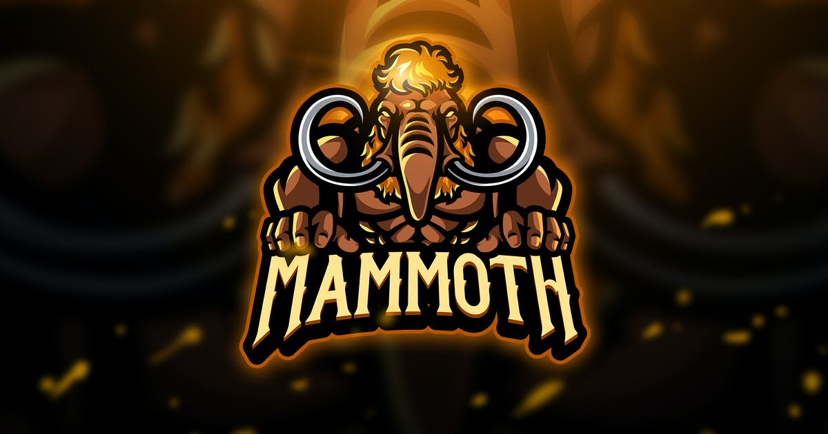 Mammoth 2 - Mascot & Esport Logo by aqrstudio