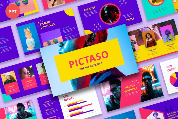 Thumbnail for Pictaso - Popart Creative PowerPoint
