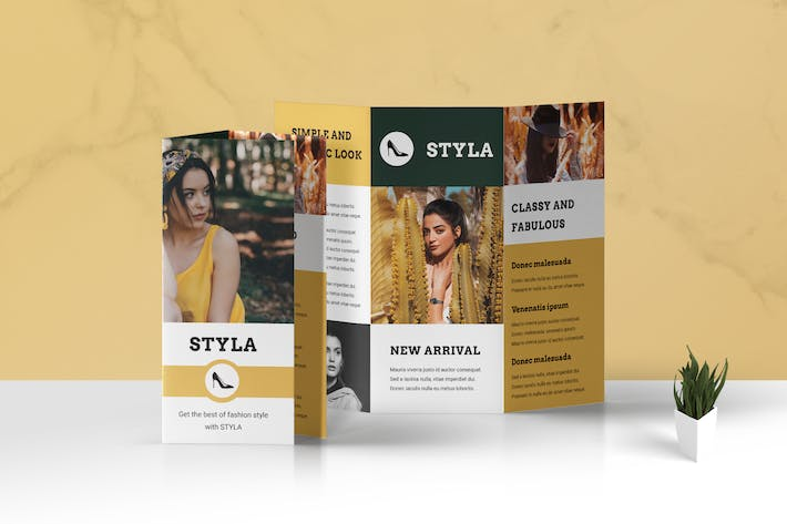 Cover Image For Trifold Fashion Business Flyer