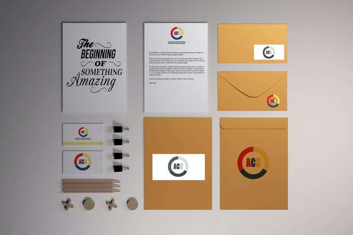 Thumbnail for Stationery Branding Mock-Up