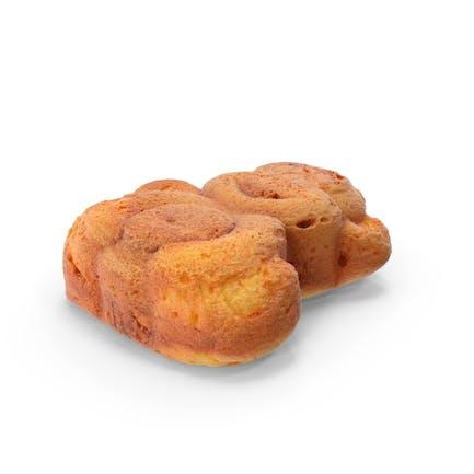 Affe-Biskuitkuchen mit Schokolade