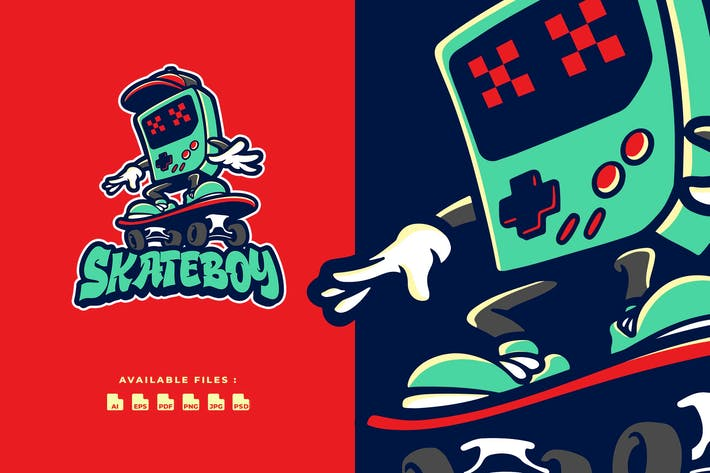 Thumbnail for Skateboy Cartoon Logo