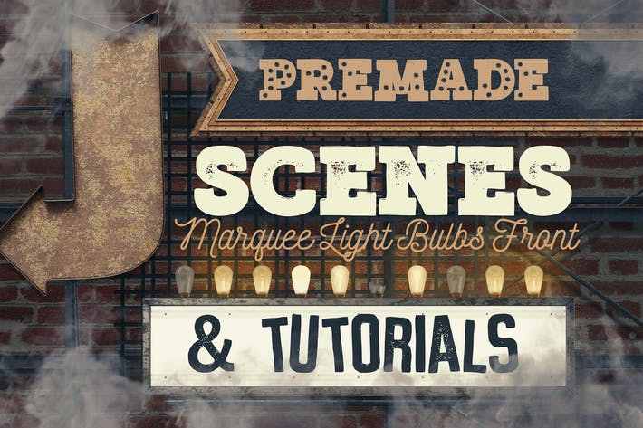 Thumbnail for Marquee Light Bulbs Front 6 -Scenes & Tutorials
