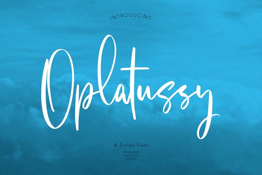 Oplatussy Script Font