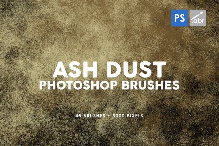 Thumbnail for 45 Ash Dust Photoshop Stamp Brushes