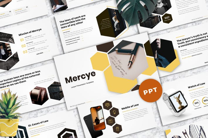Thumbnail for Mercye - Lawyer Powerpoint Templates