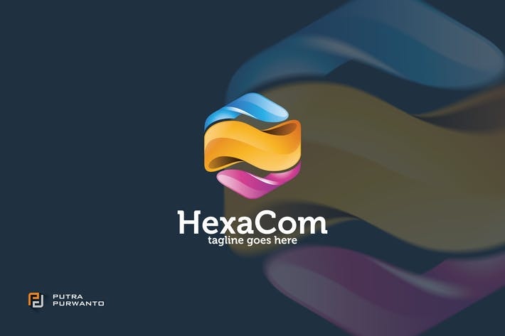 Thumbnail for HexaCom - Logo Template