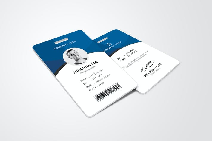 Cover Image For ID Card Template