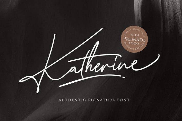 Thumbnail for Katherine Script (+Premade Logo)